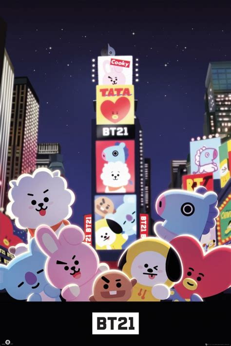 BT21 Posters - BT21 Times Square poster GN0900 - Panic Posters