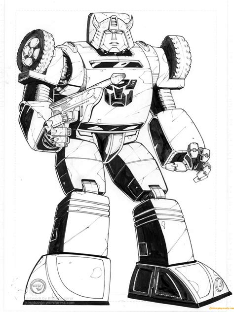 Bumblebee Transformers Coloring Page - Free Coloring Pages