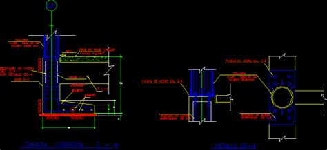 Footing For Steel Column DWG Block for AutoCAD • Designs CAD