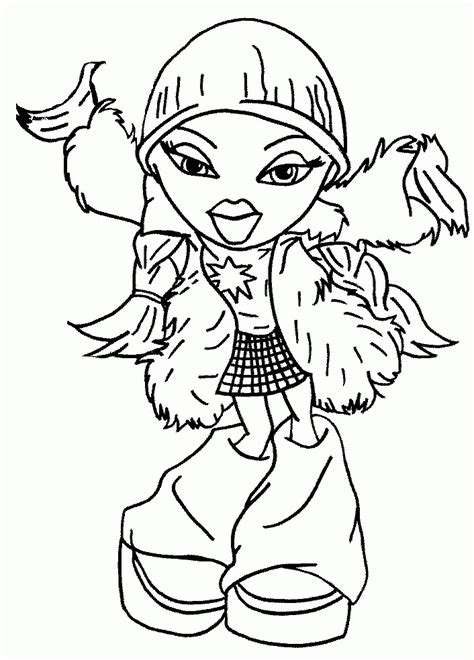 Free Printable Bratz Coloring Pages - Coloring Home