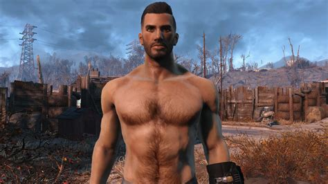 This mod adds body hair to all men in Fallout 4!