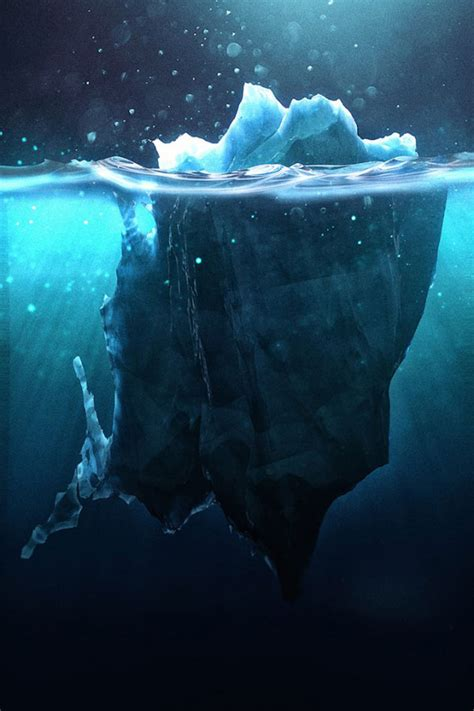 Amazing icebergs artworks made in 3D