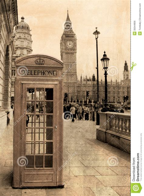Vintage View Of London Royalty Free Stock Image - Image