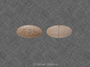 E 54 Pill Images (Pink / Elliptical / Oval)