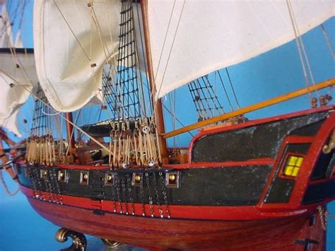 Buy Wooden Caribbean Pirate Ship Model 26in - White Sails