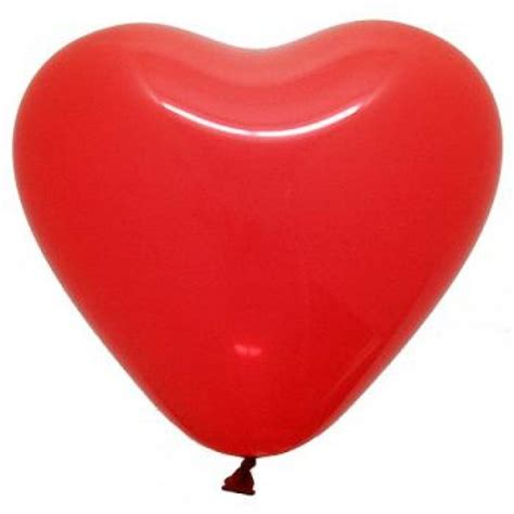 6 Inch Heart Shape Red Balloons ~ 100pcs - from category