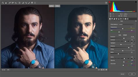 Edit Colors and Retouch a Male Headshot Portraits in