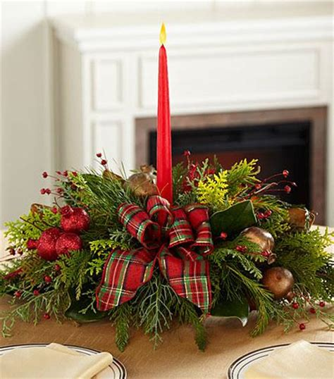 Christmas Callings Holiday Greenery with Candle - ftd