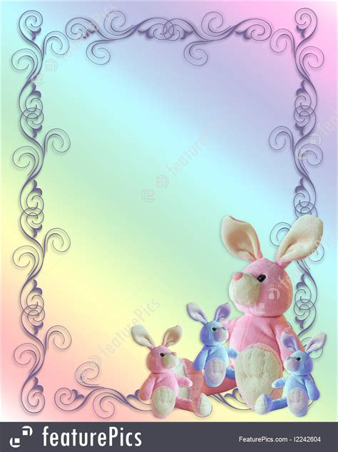 Bunny Background Baby Or Easter Card