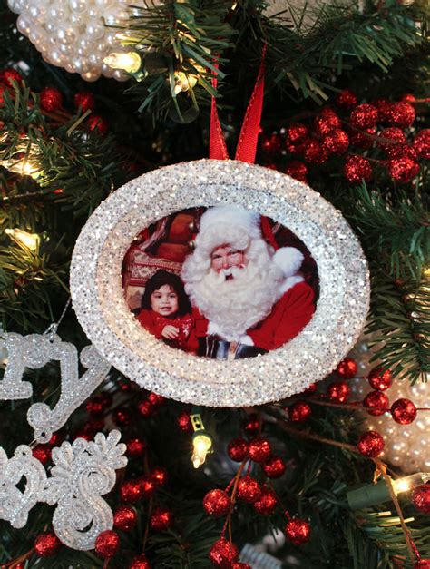 Glitter Photo Christmas Tree Ornaments - Two Sisters