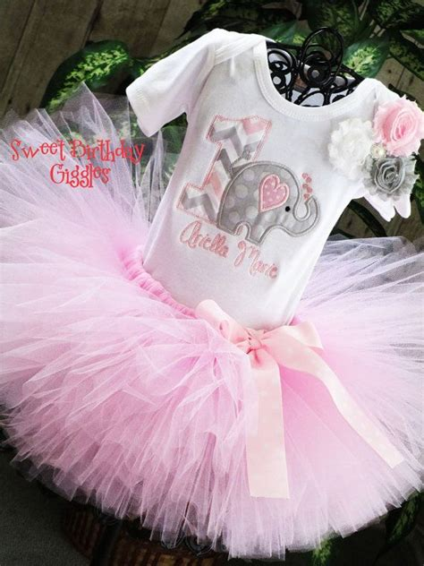 Baby Elephant Birthday Outfit Baby Girl by