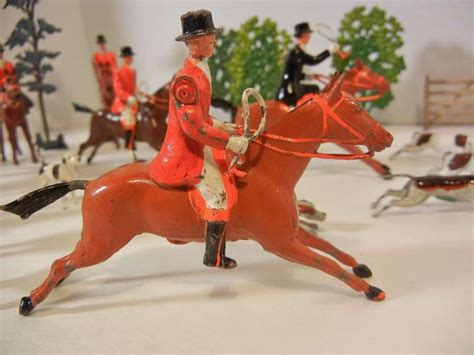 Fox Hunt Vignette of 30 Assembled Toy Figures by Britains