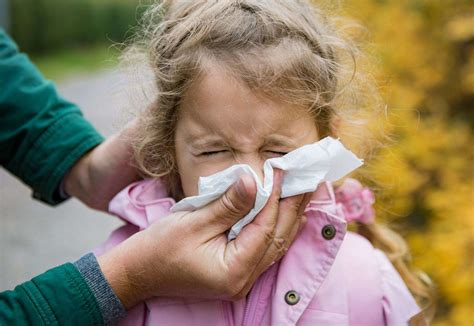 Can my child go to school with a cold, runny nose or sore