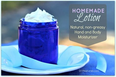 Homemade Lotion - A Natural Hand and Body Moisturizer Recipe