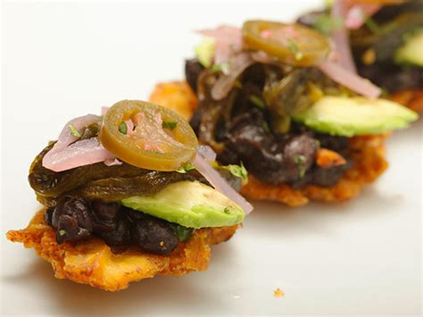 Fried Plantains With Black Beans, Roasted Poblanos