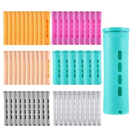 56Pcs Hair Perm Rods with Lid Hair Curlers Curly Hair Tool