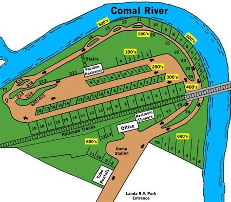 Landa Park rv campsite right across the bank from the
