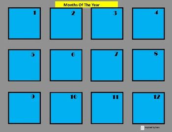 Days of the Week and Months of the Year Sequence Boards