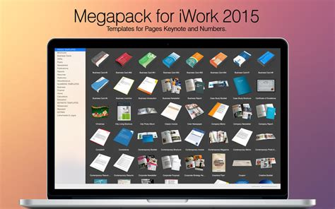 Megapack for iWork 2015: Keynote Numbers Pages Templates 2
