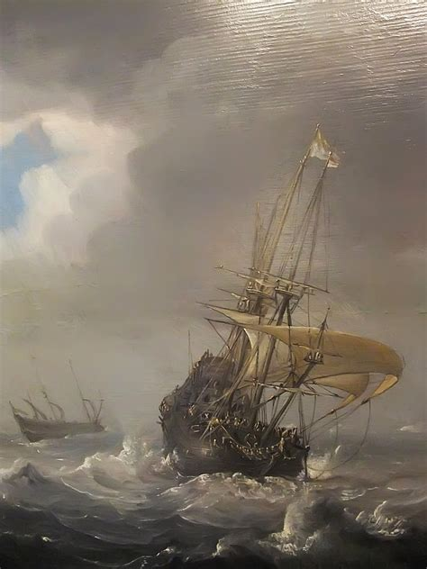 Detail of Shipping in Stormy Seas by Julius Porcellis 1610