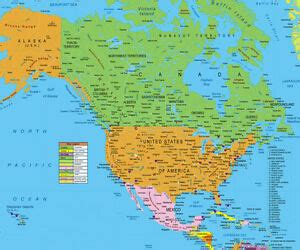 USA and Canada Map ( North America ) FOR GPS INCLUDES