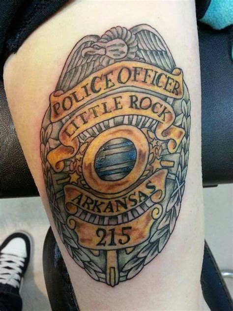 My father's police badge | Body tattoos, Police tattoo