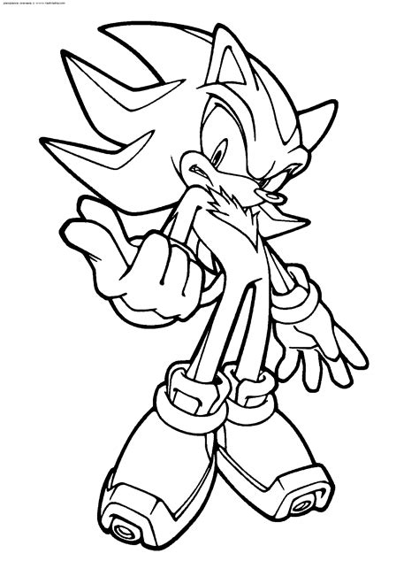 Super sonic coloring pages to download and print for free