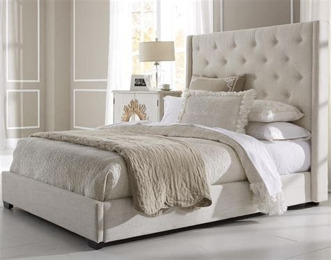 Bedroom: Classy White Tufted Headboard To Match Your
