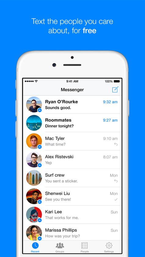 Facebook Messenger App Gets Updated for the iPhone 6
