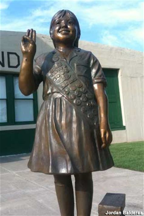 Statue of First Girl Scout Cookie Sale, Muskogee, Oklahoma
