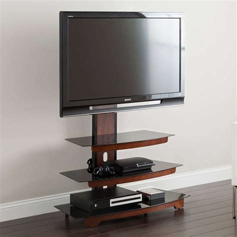 Whalen 3-Tier Cherry Brown Flat Panel TV Stand for TVs up