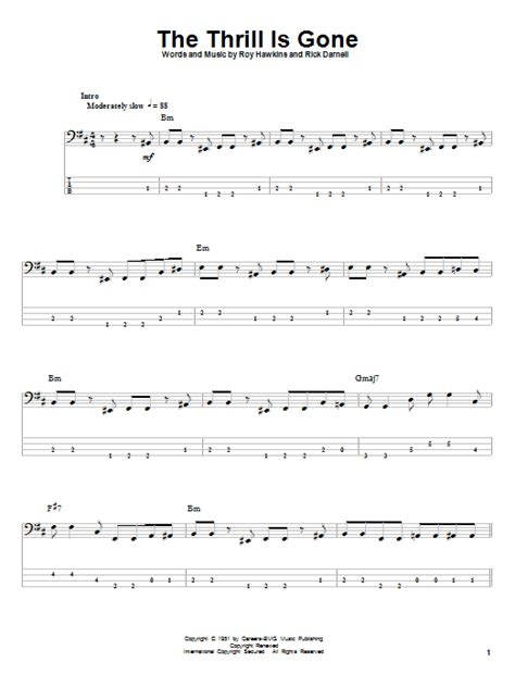 The Thrill Is Gone | Sheet Music Direct