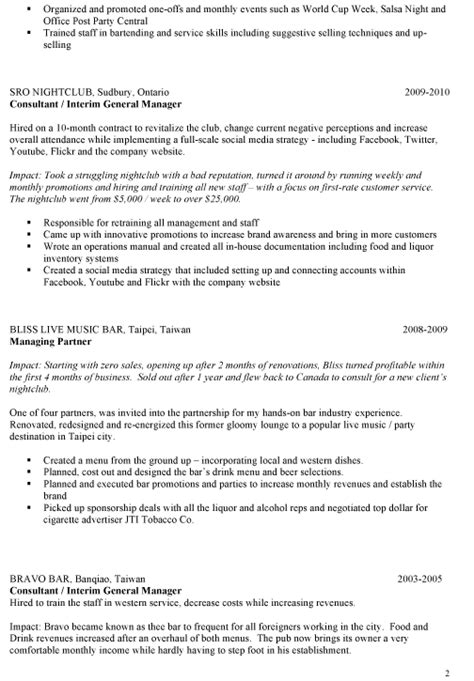 Sample Bar Manager Resume | Ideas on Writing Your Own