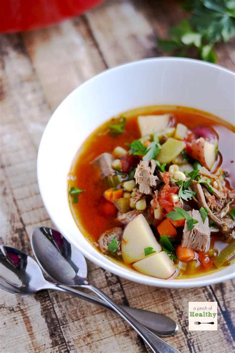 Vegetable Beef Soup - A Pinch of Healthy